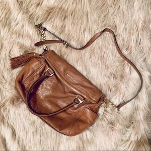 Michael Kors Messenger Brown Leather Bag
